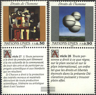 UN - Geneva 233-234 With Zierfeld (complete Issue) Unmounted Mint / Never Hinged 1993 Human Rights - Geneva - United Nations Office