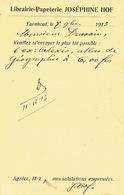 PK Publicitaire TURNHOUT 1913 - JOSEPHINE HOF - Boek- En Papierhandel - Turnhout