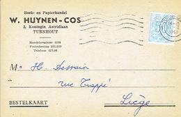 PK Publicitaire TURNHOUT 1960 - W. HUYNEN - COS - Boek- En Papierhandel - Turnhout