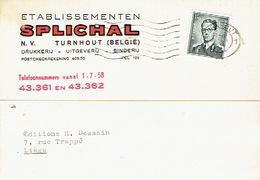 PK Publicitaire TURNHOUT 1959 - Etablissementen SPLICHAL - Drukkerij - Uitgeverij - Binderij - Turnhout