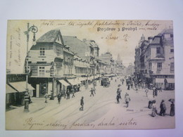 TCHEQUIE  :  Pozdrav Z Prahy  -  Prikopy   1901  X - Repubblica Ceca