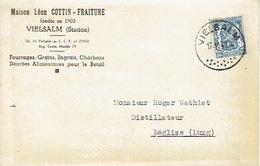 CP Publicitaire VIELSALM 1941 - Maison Léon COTTIN - FRAITURE -Fourrages, Grains, Engrais, Charbons, Denrées Pour Bétail - Vielsalm