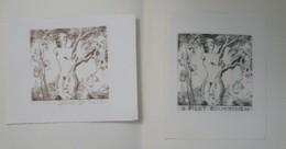 2 Ex-libris Illustrés XXème (ou Projet) - Belgique Par Tilmans - IRENE D PACE - PICOT BOURNISSEN- Nue - Bookplates