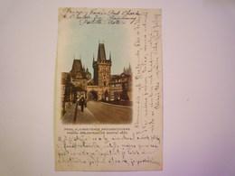 TCHEQUIE  -  PRAGUE  :  Kleinseitener Brückenthürme  -  Carte Couleur  1901   - Czech Republic