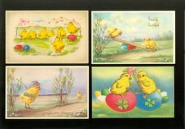 Beau Lot De 60 Cartes Postales De Fantaisie  Pâques   Mooi Lot 60 Postkaarten Van Fantasie  Pasen -  60 Scans - Postcards