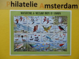 Uganda 1995, FAUNA BIRDS OISEAUX VOGELS VÖGEL AVES: Mi 1461-76, ** KB - Vögel