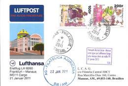 Luftpost Deutschland Lufthansa Erstflug 2011 LH 8260MD 11 Cargo  Frankfurt(M- Manaus - Airmail