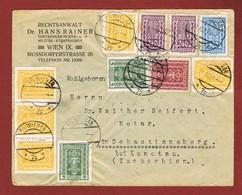 Infla Ab 1. Nov.1922 Ausland Brief Sondertarif C S R - Brieven En Documenten