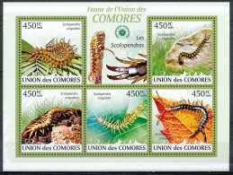 D- [35642] **/Mnh-Union Des Comores - Les Scolopendras - Scolopendra Cingulata - Insekten