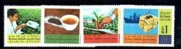 XP275 - CEYLON SRI LANKA , Yvert N. 377/80  ***  MNH .  TEA - Sri Lanka (Ceylon) (1948-...)