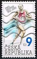 Tschechien 2002, Michel# 331 O Emil Zátopek - Famous Czech Sportsman - Repubblica Ceca