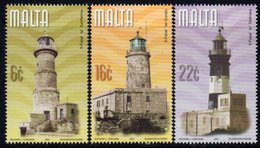 Malta 2001 Lighthouses Set Of 3, MNH, SG 1201/3, Ref. 52 - Lighthouses