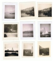 Lot De 23 Photos ( +/- 6 X 6 Cm) SUISSE, LUGANO, Le Lac, L'hôtel Bristol,....en 1946 (b230) - Lieux
