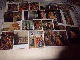 LOT DE 24 CARTES  ...OEUVRES MUSEE HISTORIQUE DE VIENNE - Postcards