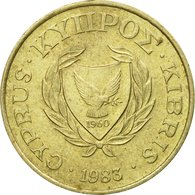 Monnaie, Chypre, 5 Cents, 1983, TTB, Nickel-brass, KM:55.1 - Chypre