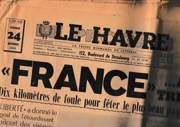 Le Havre Progrès - 24.11.1961 - Numéro Spécial Arrivée Du Paquebot France - Newspapers