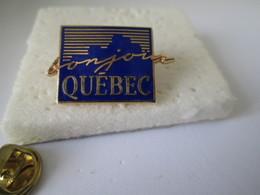 PIN'S    QUEBEC  Bonjour - Cities