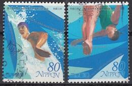 Giappone 2001 Sc. 2775-2777 Nuoto Tuffi  Swimming Used Japan Nippon - Nuoto