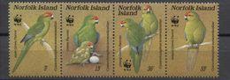 WWF - NORFOLK - FAUNA -  BIRDS - UCCELLI - 1987 -  4  V. -MNH  - - W.W.F.