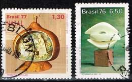 """Brasilien 1976/77,, Michel# 1626, 1573 O Christmas, """"The Caravel"""" (B. Giorgi) - Brazil"""