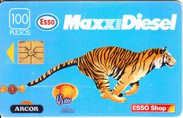 ARGENTINA - Esso, Telecom Argentina Telecard, 07/96, Used - Oil