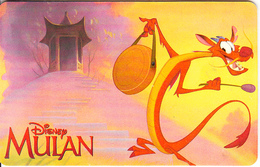 ARGENTINA(chip) - Disney/Mulan, Telefonica Telecard(F 107), Chip GEM1, 05/98, Used - Argentina