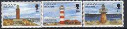 Falkland Islands 1996 Lighthouses Set Of 3, MNH, SG 742/4, Ref. 65 - Lighthouses