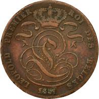 Monnaie, Belgique, Leopold I, 5 Centimes, 1851, TTB, Cuivre, KM:5.2 - 1831-1865: Léopold I