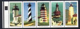USA 1990 Lighthouses Strip Of 5, MNH, SG 2516/20, Ref. 66 - Lighthouses