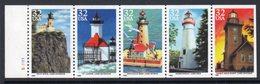 USA 1995 Lighthouses Strip Of 5, MNH, SG 3052/6, Ref. 67 - Lighthouses