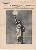 Bulletin Hebdomadaire Américain - Tanger 05.07.1944 - Maroc - 6 Pages - De Gaulle Et Aviateurs En Italie - War 1939-45