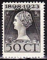 1923 Jubileumzegels 50 Cent Zwart  Lijntanding 11½ X 12½ NVPH 128 H Ongestempeld - 1891-1948 (Wilhelmine)