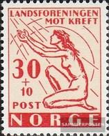 Norwegen 379 (kompl.Ausg.) Postfrisch 1953 Krebsbekämpfung - Norvège