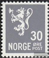 Norwegen 343 (completa Edizione) MNH 1949 Francobollo: Wappenlöwe - Norwegen