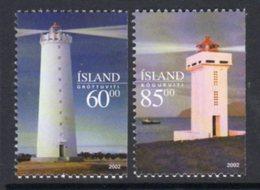Iceland 2002 Lighthouses Set Of 2, MNH, Ref. 78 - Lighthouses