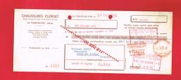 1 Lettre De Change & LA TOUR DU PIN Isère  Chaussures CLERGET - Bills Of Exchange
