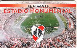 ARGENTINA(chip) - C A River Plate, El Gigante Estadio Monumental, Telefonica Telecard(F 122), 08/98, Used - Argentina