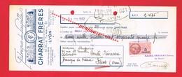 1 Lettre De Change & LYON 51 Rue Turbil CHARRAT FRERES Fabrique De Layettes - Bills Of Exchange