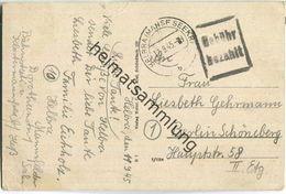 Postkarte Aus Helbra (Mansf Seekr) Vom 12.09.1945 Mit 'Gebühr Bezahlt' Stempel B16 (Sonderform) In Schwarz - Zone Soviétique