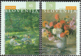 Slovenia 142-143 (complete Issue) Unmounted Mint / Never Hinged 1996 Famous Women - Slovenia