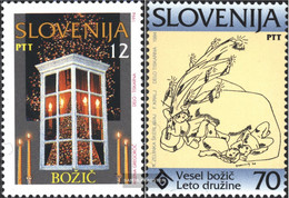 Slovenia 99-100 (complete Issue) Unmounted Mint / Never Hinged 1994 Christmas - Slovenia