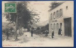 SENONES   Un Coin De La Forain   Café Des Carrieres      Animées    écrite En 1915 - Senones