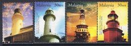 Malaysia 2004 Lighthouses Set Of 4, MNH, Ref. 84 - Lighthouses