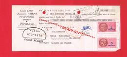 1 Lettre De Change & CHOLET A GARIN Rue Sadi Carnot & Rue De La Casse Chaussures HALGAR - Bills Of Exchange