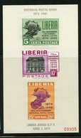 Liberia 1950   Universal Postal Union Issue #C67  MNH Souvenir Sheet - Liberia