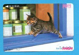 JAPAN  Prepaid Phonecard  -  Katze   Cat   Chat - Cats
