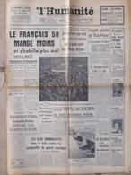 Journal L'Humanité (11 Avril 1958) Divergences Gouvernement Bons Offices - Enquête Paris-Presse - Bourses Du Travail - Newspapers