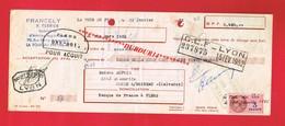 1 Lettre De Change & LA TOUR DU PIN Isère FRANCELY F TERRIER 70 Rue Pierre Vincendon - Bills Of Exchange