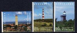 Netherlands 1994 Lighthouses Set Of 3, MNH, Ref. 91 - Lighthouses