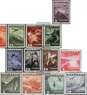 Österreich 598-612 (completa Edizione) Con Fold 1935 Airmail - 1918-1945 1. Republik
